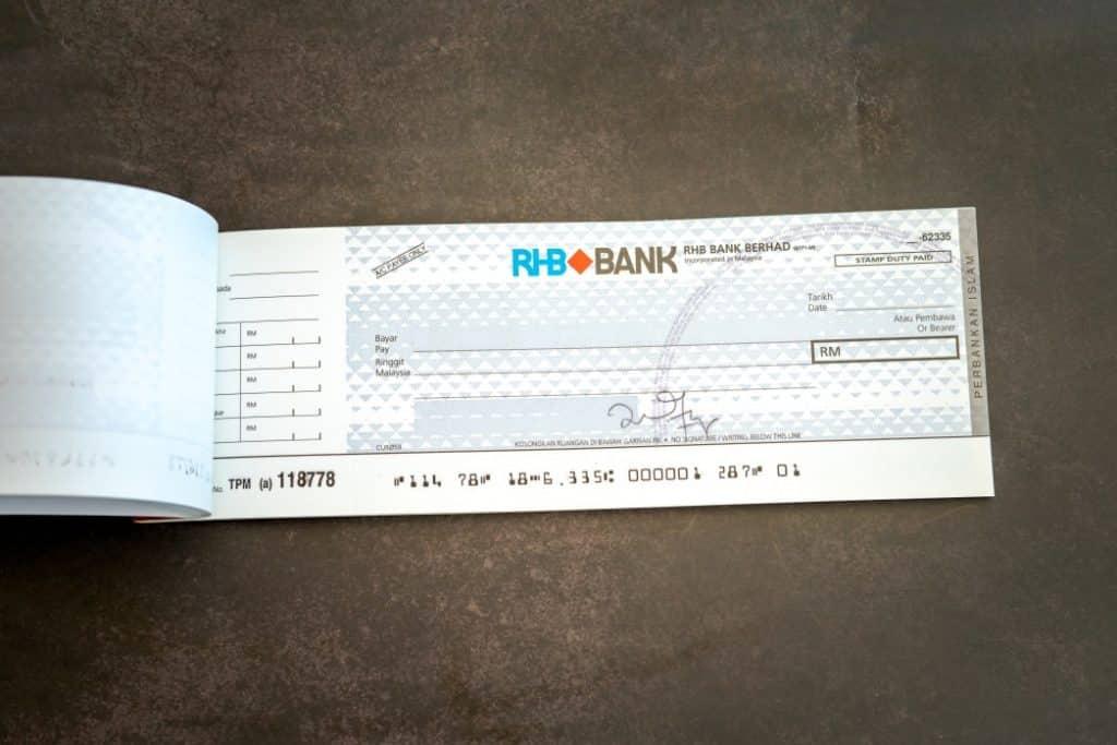 remplir cheque